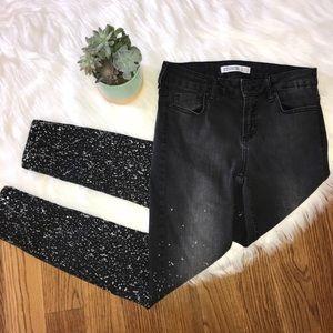 Zara Z1975 Denim Black Jeans Women's Size 4
